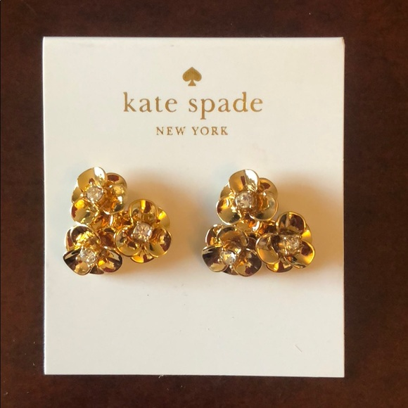 9ace1a0baf9262 kate spade Pavé Flower Cluster Stud Earrings- NWT.  M_5b8c6b41bf77290829a43c7b